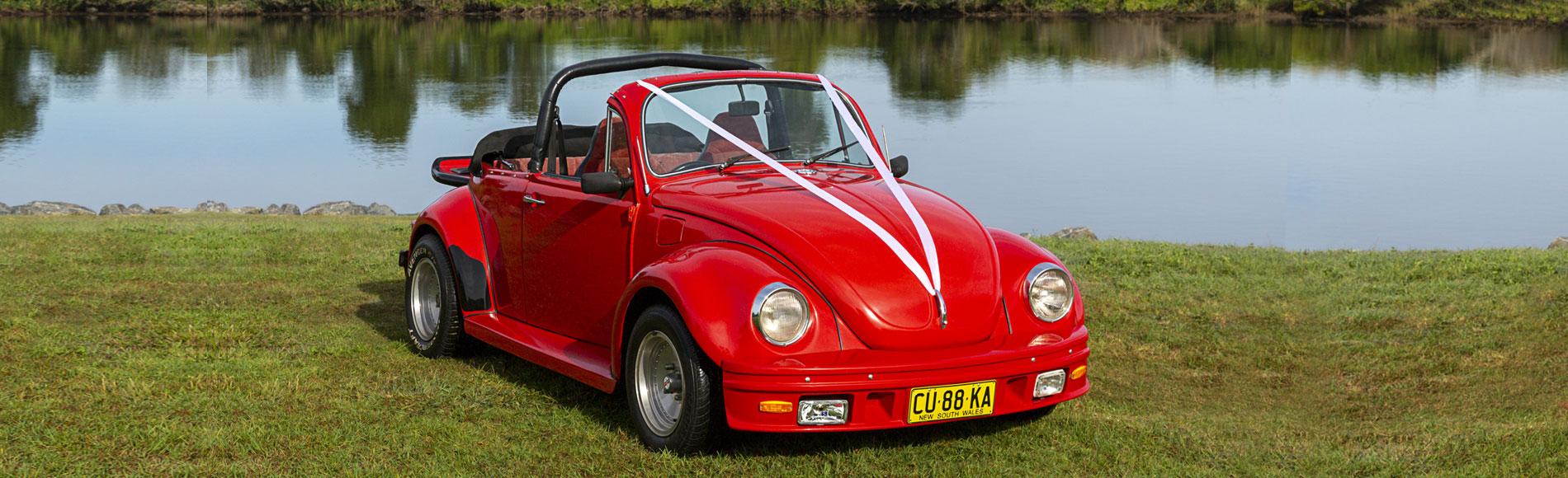 vw beetle wedding car byron bay