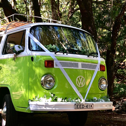 wedding cars for hire byron bay kombi