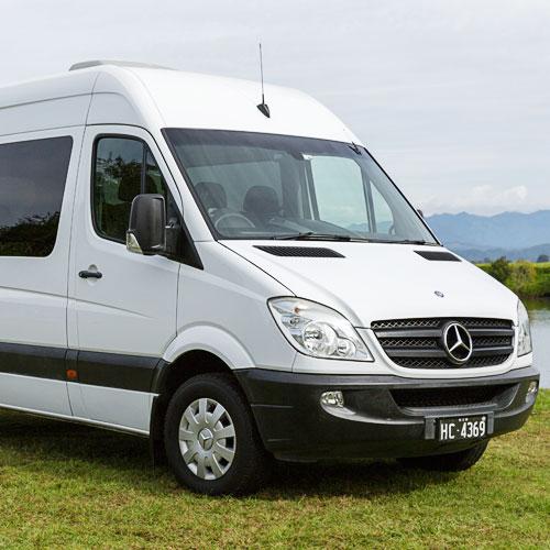 wedding cars for hire byron bay van