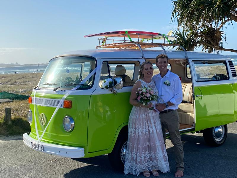wedding car hire byron bay